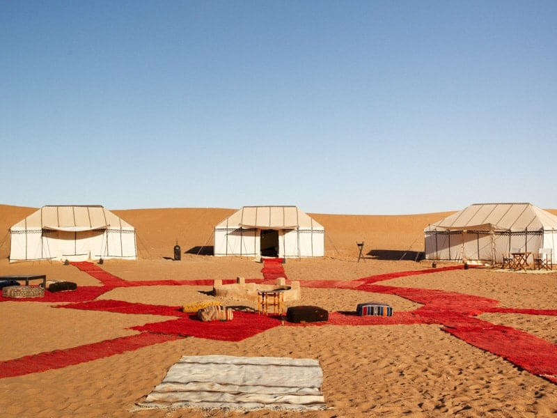 Yoga Retreat Tents at Luxury Desert Camp in Morocco