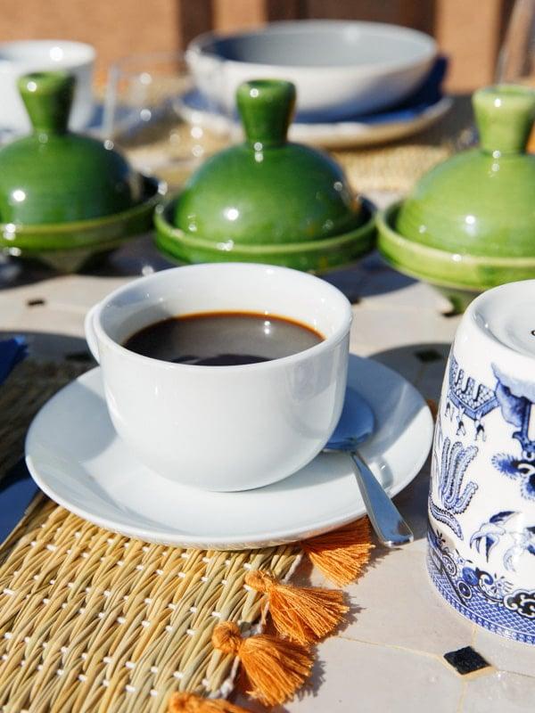 Morning Coffee Served at Sahara Camp