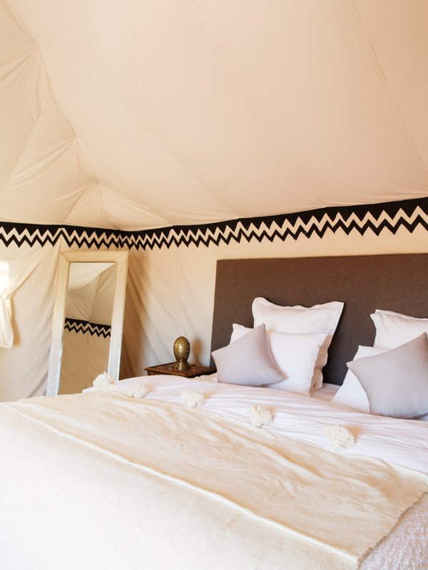 King Size Camp Bed at Nubia Luxury Tent Suite