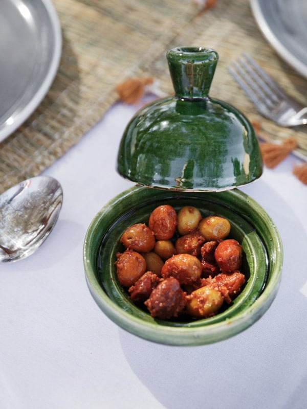 Luxury Desert Dining Side Dish of Olives