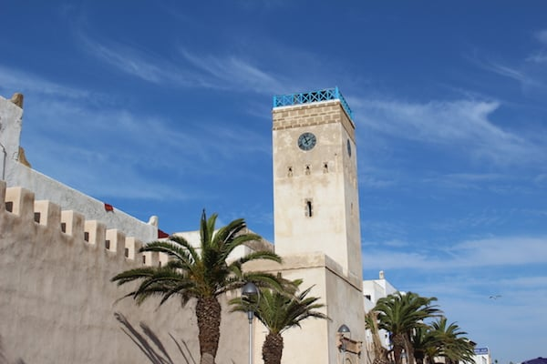 Historical Building Clock Tower in Morocco on Sight Seeing Tour
